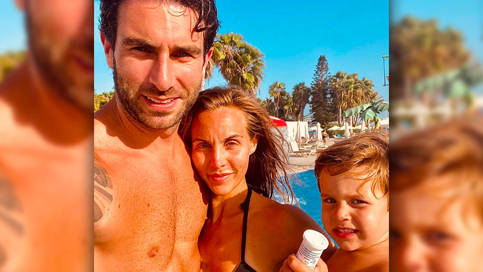 Paul with wife and business partner Rachel and son Leo