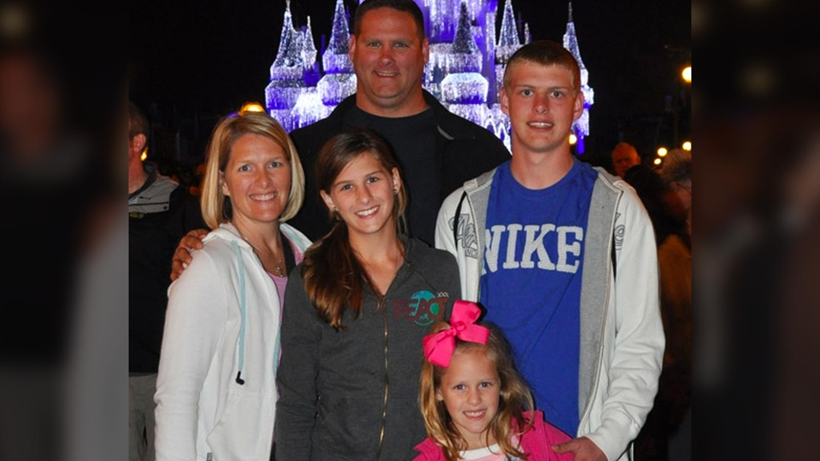 Stephanie with her family at Disney World