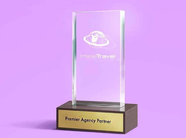 Award recognizing InteleTreavel as a